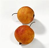Zwei Marzipanpfirsiche