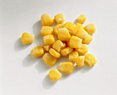 Tinned sweetcorn, individual grains