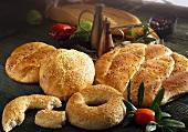 Flatbread and sesame rolls from Turkey