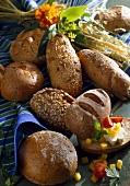 An assortment of wholemeal rolls