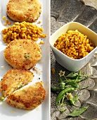 Vegetable burgers with lentils