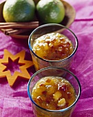 Wintry apricot and date jam