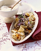 Pappardelle con l'anatra (Pappardelle with duck, Italy)