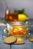 Ginger tea and biscuits