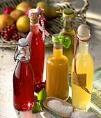Various juices in bottles
