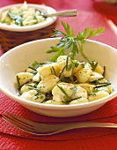 Cheese and herb gnocchi