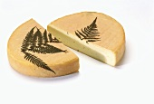 Gres des Vosges (soft cheese with fern leaf)