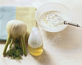 Fennel, olive oil and yoghurt dressing