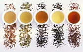 Lapacho tea, mate tea, black and green tea, Rooibos tea