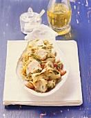 Tagliatelle con le capesante (ribbon pasta with scallops)