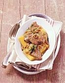 Fegato alla veneziana (calf's liver with onions), Italy