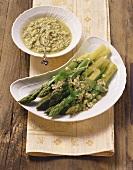 Asparagi alla veneziana (green asparagus with salsa verde)