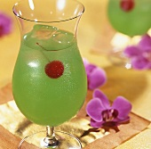 Green Poison (Tequila and Blue Curacao)