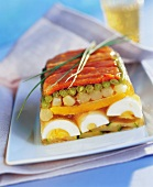 Vegetable terrine with egg