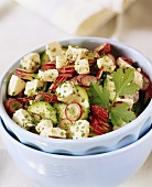 Courgette salad with radishes and feta