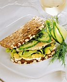 Wholemeal turkey breast and cucumber sandwich