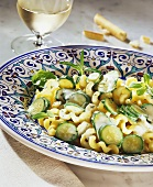 Pasta with courgettes and herbs