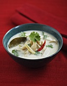 Coconut soup with chicken and coriander leaves (Thailand)