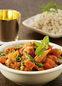 Vegetable ragout with rice (India)