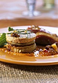 Goose liver cake with fruit