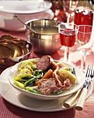 Potée Bourguignonne (Vegetable stew with cured pork, France)