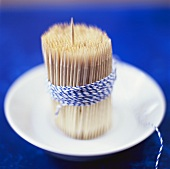Toothpicks tied with kitchen string