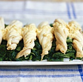 Sole fillets with spinach