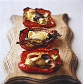 Baked stuffed peppers with goat's cheese stuffing