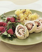 Chicken roulade with sage and Parma ham