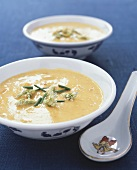 Pumpkin and coconut soup (China)