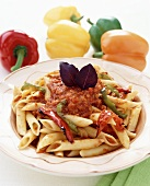 Penne with pepper sauce