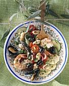 Seafood salad with vegetables (Spain)