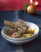 Beef with bone and soup vegetables