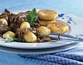 Boeuf Bourguigonon with potato cakes