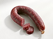 Mettwurst sausage, partly sliced