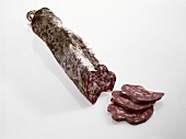 Hard cured sausage from Spain (Longaniza Casera de Payes)