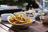 Poppadams, pickles and chutneys (India)