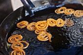 Jalebis (sweet deep-fried pastry spirals, India)