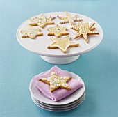 Star-shaped biscuits for Christmas