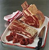 Verschiedene Rindfleischsorten