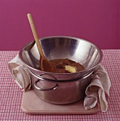 Melting chocolate and butter in bain-marie