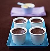Pot au chocolate (baked chocolate mousse)