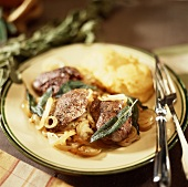 Liver with sage and onions
