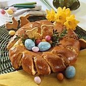 Filled Easter wreath