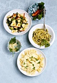 Three pasta dishes from Italy