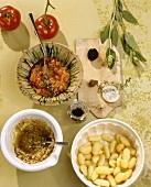 Gnocchi al pomodoro e gnocchi al tartufo (Gnocchi dishes)