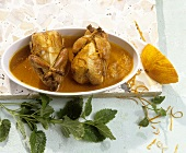 Quaglie all'arancia (Quails in orange and grappa sauce)