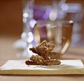 Chocolate hazelnut slices