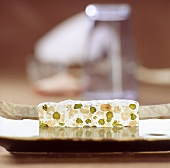 Nougat with pistachios and hazelnuts