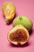 Prickly pear and figs, whole and halved